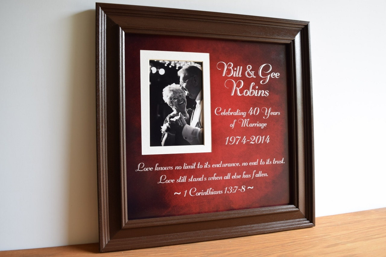 What Are The Gifts For Wedding Anniversaries: Anniversary Gift 40th Wedding Anniversary Parents