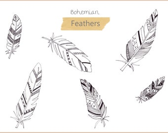 Feather Digital Clipart