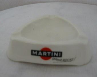 """advertising ashtray """"martini"""" of ivory"""