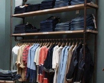 """Clothing Garment Wall Rack 60"""" Wide Retail Store Fixture"""
