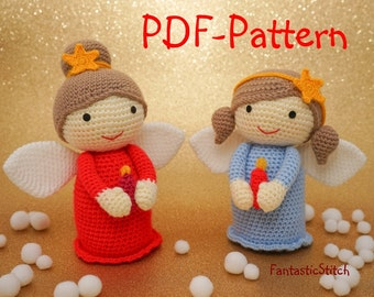 Crochet Pattern Christmas Angel Amigurumi Instant Download PDF 25 Pages