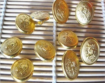 U Pick Handmade Plastic buttons,  Gold Round Button 17mm YTB10
