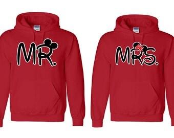 Mr. & Mrs. - Couple Hoodies - Sweatshirt