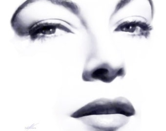 "Visage Collection - Ava Gardner - Quality - 24"" x 24"" Canvas Art Poster"