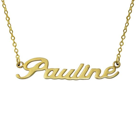 wholesale name necklace nameplate by lovehandmadeanything