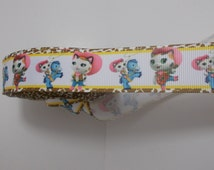 "One yard grosgrain ribbon - 7/8"" Sheriff Callie and Sparky with animal print border"