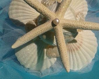 SEASHELL STARFISH BOUQUET -Seashell Wedding Bouquet-Beach Wedding-Destination Bouquet -Seashell Bouquet- Ready to Ship!