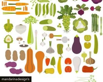 Vegetable clip art Etsy