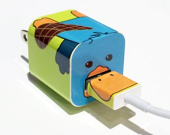 TechTattz Platypus USB Charger Decal Skin Wrap Sticker