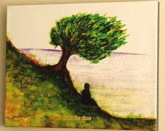 "Take The Time Giclee Canvas Wrap Print Wall Art 20"" x 16"""