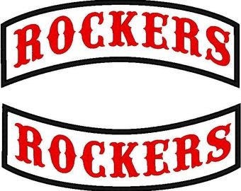 Custom Embroidered Straight Edge Rocker Patch