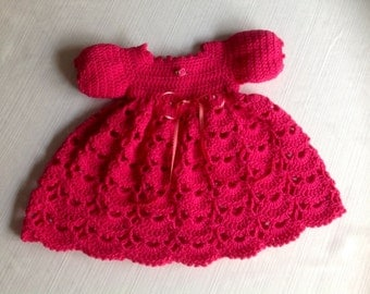 Crochet Baby Dress JANICE PATTERN 3 - 6 Months