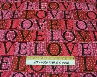 Happy Hearts Love Fabric~by the 1/2 yard~Springs Creative~patch design