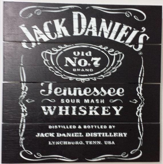 Jack Daniel's Wood Wall Art, 5 Stars Gift 19.69 x 19.69 inch Startonight