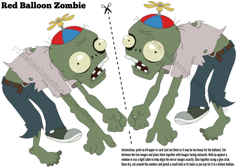 pvz party decoration floating zombie to by pinwheelsandpompoms. Black Bedroom Furniture Sets. Home Design Ideas