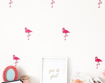 25 Flamingo Wall Decals