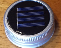 Set of 6 Mason Jar Solar Lid Lights - Great for Projects and Crafts