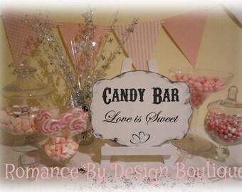 Candy Bar Buffet Wedding Sign