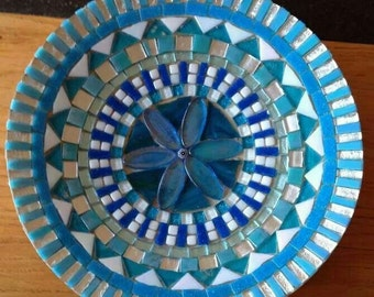 handcrafted mosaic bowl blue, glass mosaic greek bowl, mosaic art, home decoration glass mosaic bowl, bamboo bowl blue white,