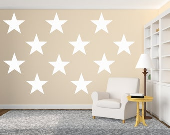 "Vinyl Wall Sticker Decal Art - 10.5"" Large Stars"