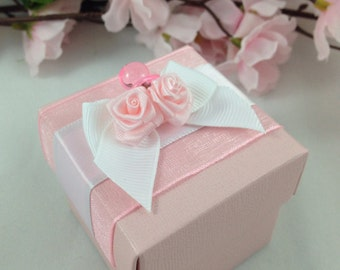25 Pink Favor Box, Baby Shower, Gift Box