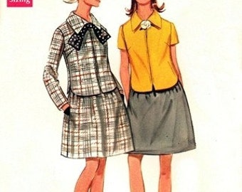 Butterick 5097 Perky Two-Piece Dress / circa 1968 / SZ10 UNCUT