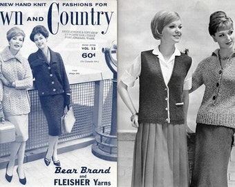 Town and Country Vol. 52 Dazzling Hand Knit Fashions 1960