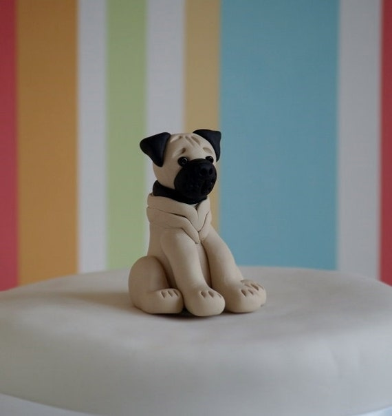 etsy wedding cake topper dog pug cake topper wedding cake topper birthday cake 14051