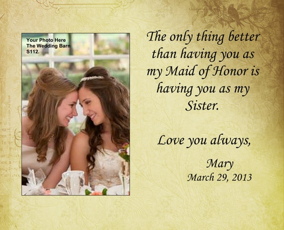 Sisters wedding gift, Maid of Honor gift, Matron of Honor gift ...
