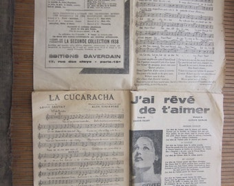score from paris 1938 famous sings