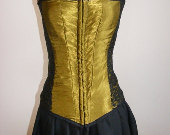 Olive and Black Costume Corset