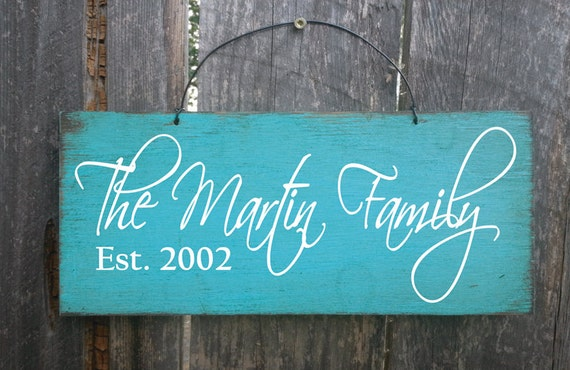 Personalized Family Name Sign - Family Established Sign - Custom Name Sign - Wedding Gift - Anniversary Gift