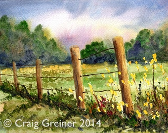 Summer Pasture — Ltd. Ed. of 200, Giclée of Watercolor
