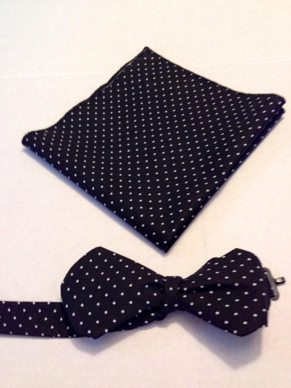 bow tie black and white polka dot bow tie self tie