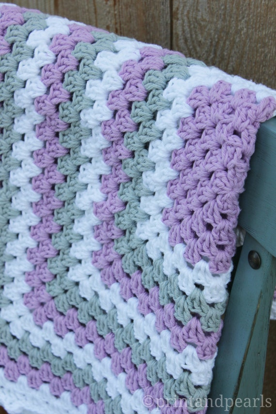 Items Similar To Cotton Baby Blanket Crochet Baby Blanket
