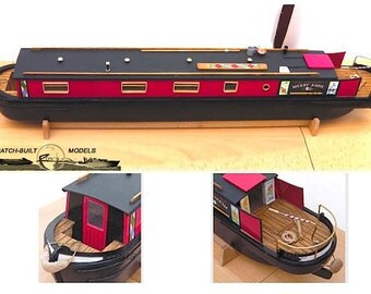 Model Plans for Canal Boat / Narrowboat - 1/24 scale