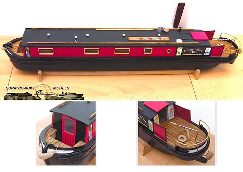 Model Plans For Canal Boat Narrowboat 1 24 Scale