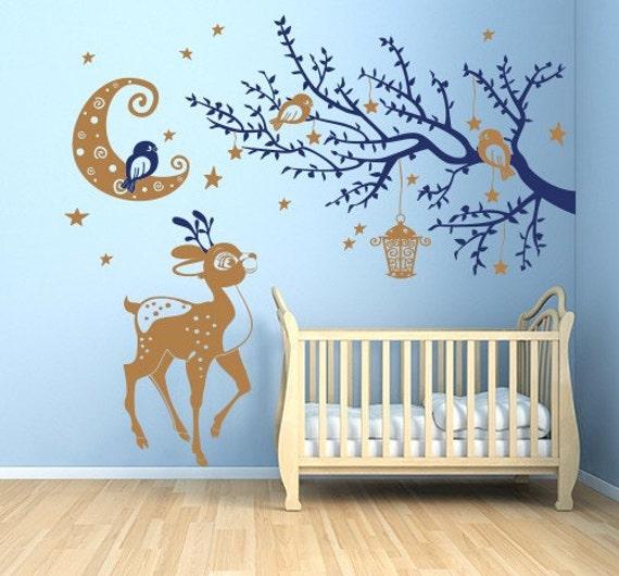 Articoli simili a 01020 wall stickers sticker bambini - Wall stickers camerette ...