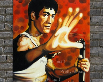 painting,oil painting,celebrity arts,portrait painting bruce lee