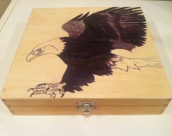 Wooden Box With Eagle
