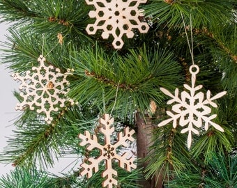 Set of 4 Christmas decorations,Christmas pendant,Christmas decor,decoration,gift idea,snowflakes,nordicstyle,wall decoration,home decoration