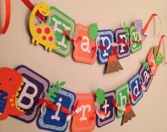 Dinosaur birthday banner, dinosaur party!