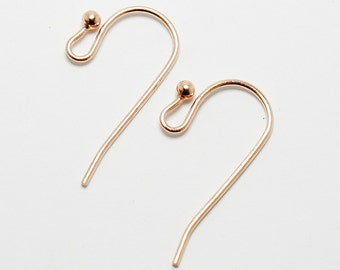 Copper French Hook Earwires, Ear Wires, Copper Plated, Set of 24 (12 pairs) Made in USA, #N104