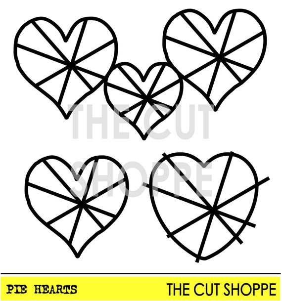 The Pie Hearts cut file consists of three heart icons, that can be used on your scrapbooking and paper crafting projects.