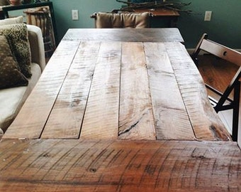 Farmhouse Table Rustic Dining Reclaimed Barn Wood