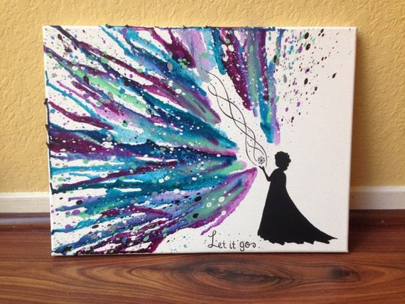 disney 39 s frozen themed melted crayon art