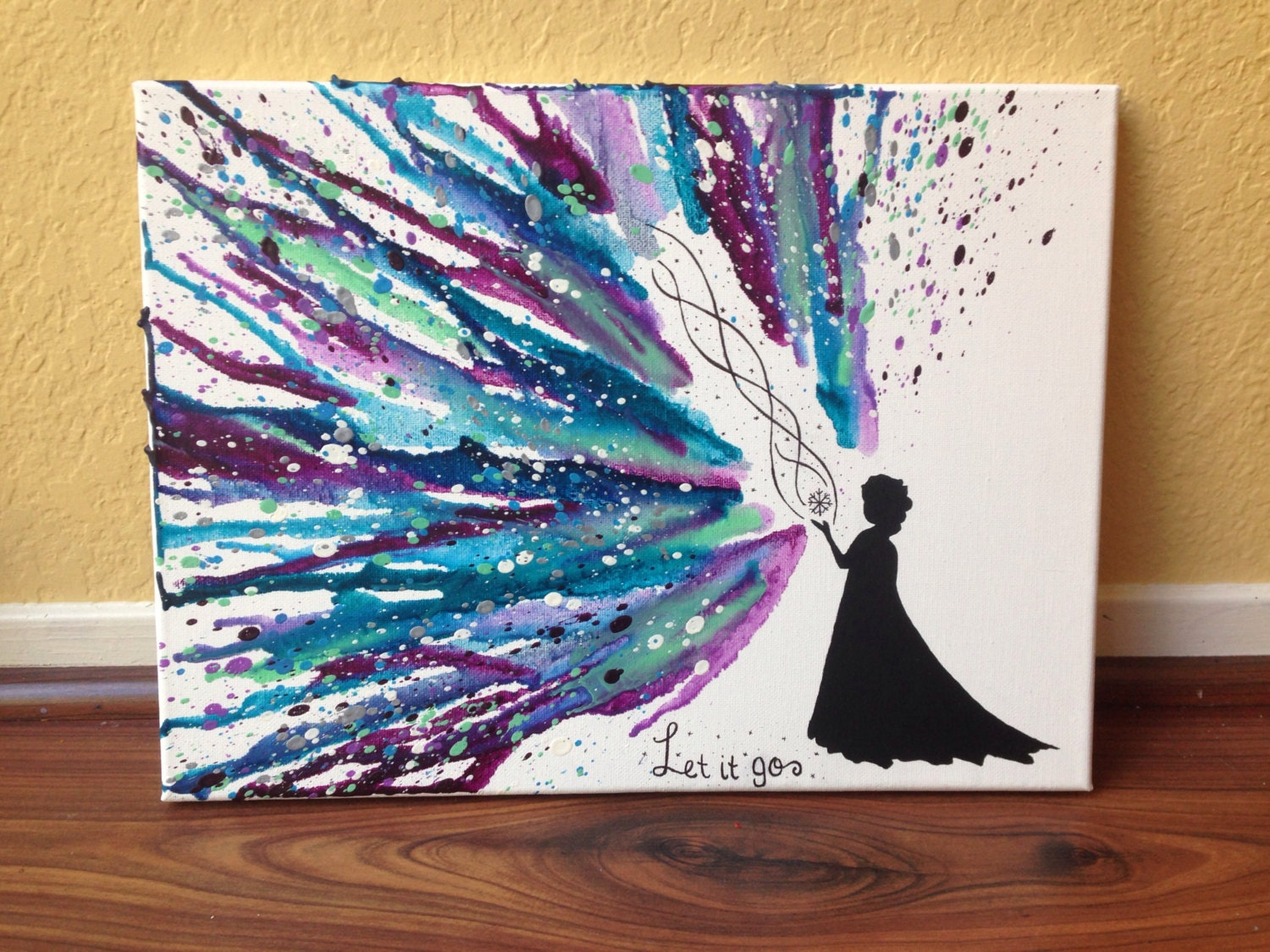 Disney S Frozen Themed Melted Crayon Art