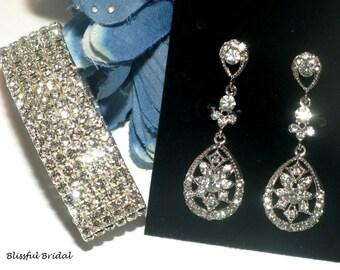 Bridesmaids Jewelry Set, Wedding Jewelry Set, Bridal Jewelry Set, Bridal Earrings, Wedding Bracelet, Jewerly For Bride