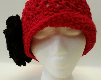 Beautiful vintage style crochet cloche.