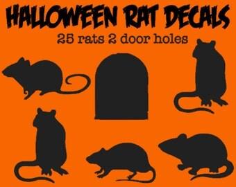 Halloween Rat Decals for Stairs, Walls, Halloween Decor